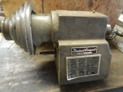 Older Emco Maximat Compact Metal Lathe Headstock Assembly W 1 12-8 Spindle