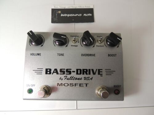 Fulltone Bass Drive Mosfet Overdrive Effects Pedal Free USA Shipping