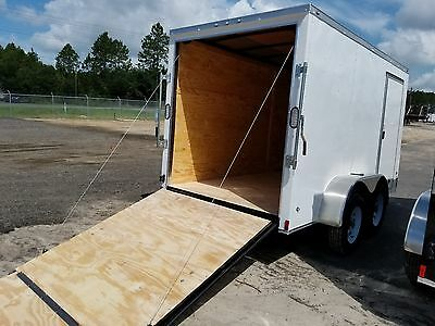 6x12 6 X 12 Enclosed Trailer Cargo V-nose Ramp Motorcycle 14 Utility 10 In Stock