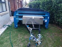Ford Falcon FG Ute Tub Trailer Blue w/ Toolbox and spare wheels Glen Alpine Campbelltown Area Preview