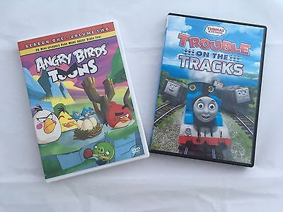 Children's DVD's Angry Birds Toons and Thomas and friends Trouble on the