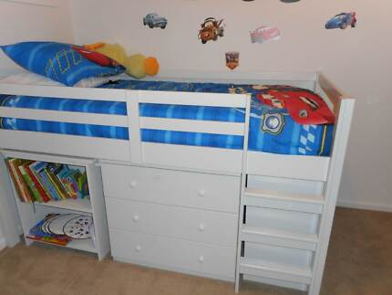 Bunk bed with retactable desk from Harvey Norman - Urgent sale Mickleham Hume Area Preview
