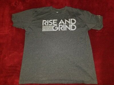 Bodybuilding Com Shirt Rise And Grind Gray Size Xxl 2Xl