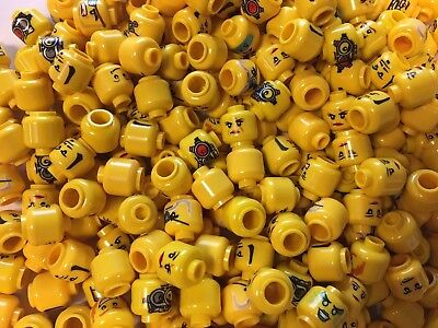 Lego Minifigure Lot of 50 Yellow Heads Male Female Mixed Lot