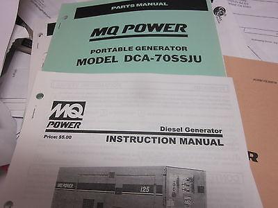 Multiquip Dca-70ssju Portable Generator Instructions Parts Manual