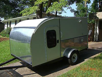 2013 6x10 New Custom Teardrop Trailer Camper Tent Ac Heat