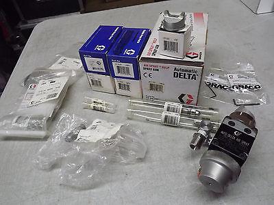 Graco 241739 Automatic Delta Hvlp Spray Gun With Spare Repair Kit 195309 Air Cap