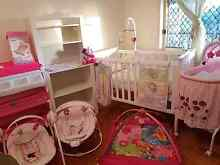 Baby girl furniture cot change table bassinet nursery items bulk Woongoolba Gold Coast North Preview
