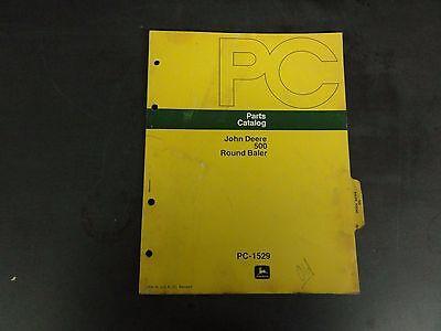 John Deere 500 Round Baler Parts Catalog   Pc-1529