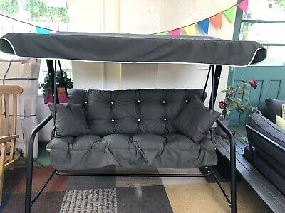 3 Seat Swing Hammock Cushions And Matching Canopy , Frame Not Included