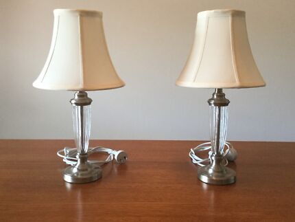 Pair bedside lamps