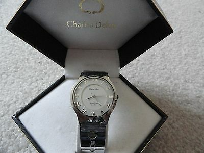 Men's Charles Delon Super Slim Quartz Watch with the Case