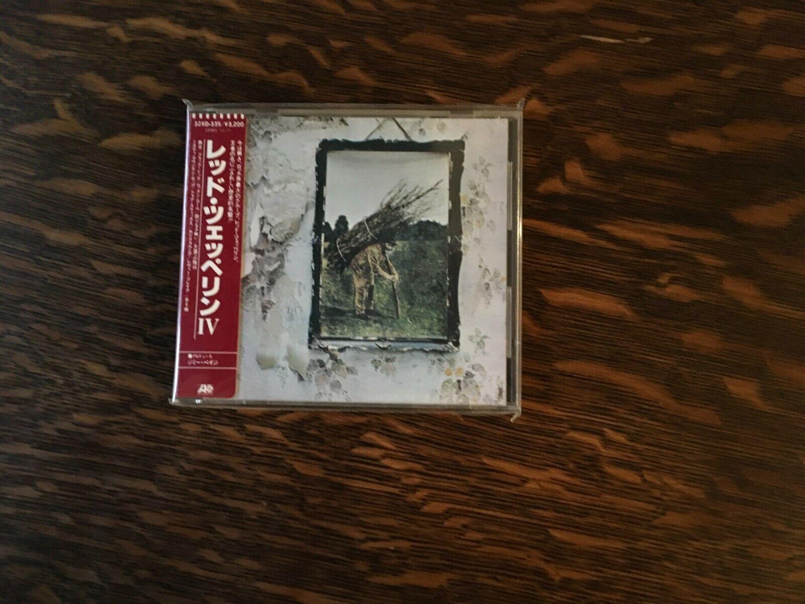 Led Zeppelin IV- 32XD-335 Japan Cd Sticker Obi - $100.99