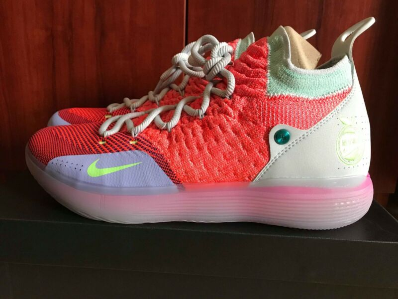 new style 536cc 0231a Nike Zoom KD 11 EYBL Peach Jam AO2604-600 Kevin Durant Mens Basketball Shoes  NIB