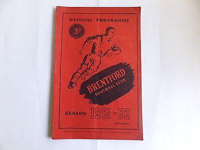 Brentford v Sheffield Wednesday - Division 2 - 11th April 1952