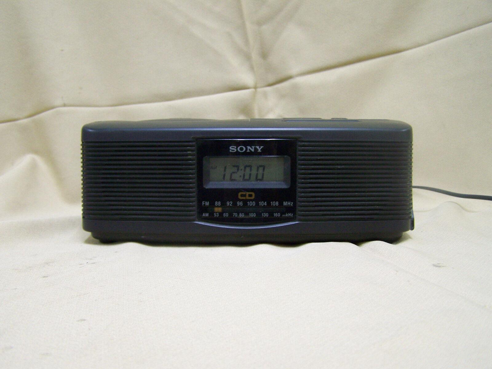 Sony ICF-CD810 CD Player AM FM Radio Alarm Clock Tuner Receiver CD-R
