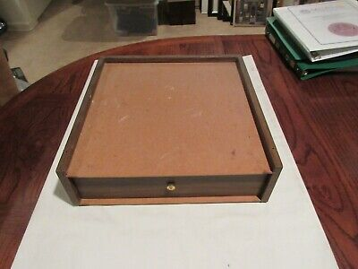Storage Drawer Desk Top 14x14x4 Vintage 1970s