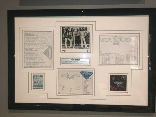 VERY RARE Van Halen 1978 HAND DRAWN Tour Stage setup original backstage pass