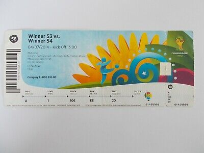 ticket World Cup 2014  France - Germany