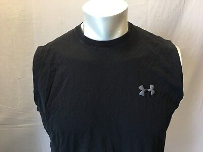 Under Armour Charged Cotton Loose Heat Gear Mens Sleeveless Muscle Shirt Size SM - Loose Gear Sleeveless