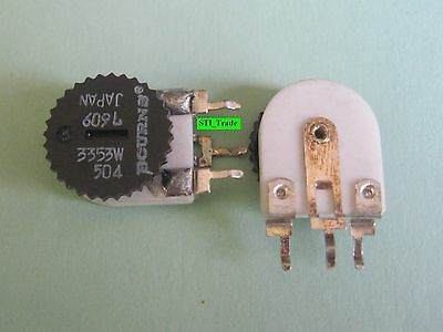 2 Pcs 0-500k Ohm Trim Pot Bourns 3353w-504 Linear Potentiometer Free Sh In Us