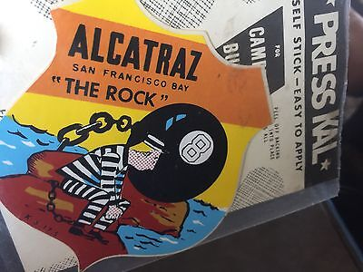 Alcatraz  CA San Francisco Prison Penetentiary 1950/'s Style Travel Decal Sticker