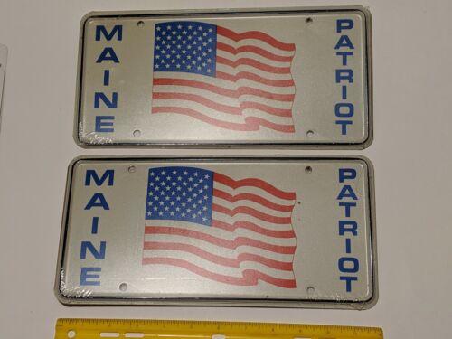 2 MAINE PATRIOT FLAG LICENSE PLATES WAS $70