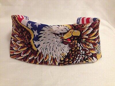 American Bald Eagle USA Flag Bandana Head Wrap Biker Scarf Red White Blue 21X21