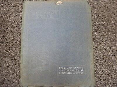 Bucyrus-erie 29-b 33-b 37-b 44-b Crane Owner Operator Maintenance Manual Book