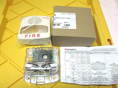 New Simplex Horn Strobe 0743256 Fire Alarm Unit True Alert White Av M-c 24v Dc