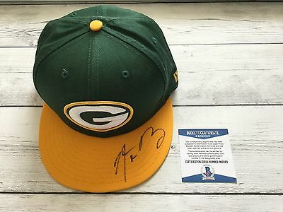 Aaron Rodgers Signed Green Bay Packers Hat BAS Beckett COA Autographed New ERA a