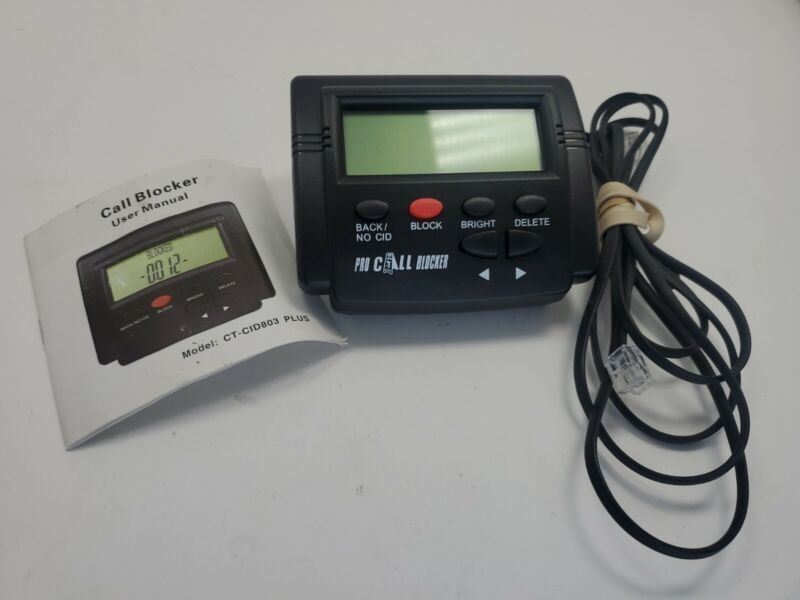 Pro Incoming Call Blocker Telephone Defense with LCD Display