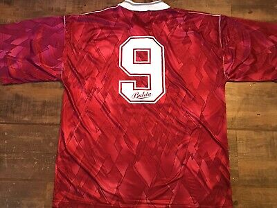1990 1991 Hearts No 9 Heart of Midlothian Football Shirt Large Maglia Camiseta image