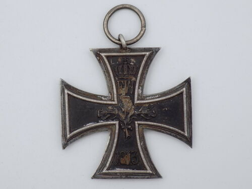 Original WWI German Army 1914 EK2 Iron Cross Medal - 938 Sterling Silver