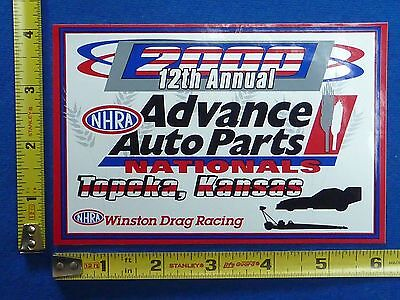 2000 Nhra Advance Auto Parts Nationals Event Decal Sticker Winston Drag Racing