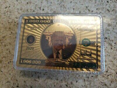 🇺🇸 MAGA Trump 2020 Keep America Great Playing Cards Gold Million Dollar Bill