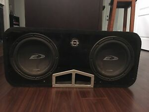 Subs with box and amp