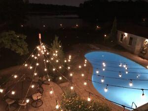 Lumieres neuves pour terrasse ou jardin style vintage