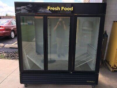 Cooler Refrigerator Merchandiser Display True Gdm-72 Rich-in 3 Glass Doors