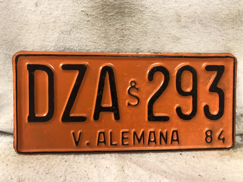 1984 Columbia License Plate