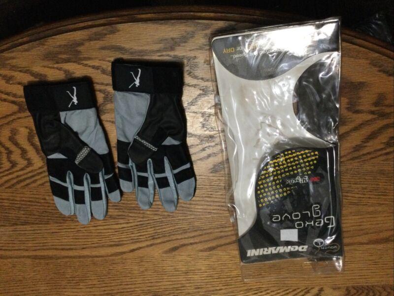 Demarini Geko Batting Glove Pair Youth Large Grey & Black