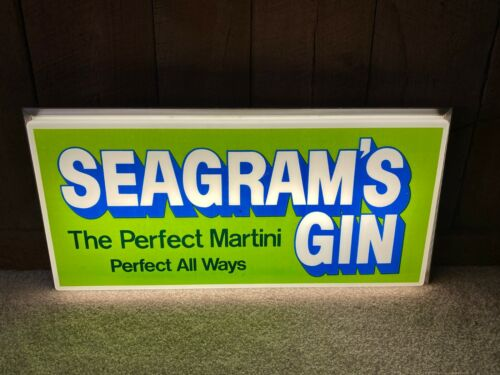 Vintage Seagrams Gin Seven 7 The Perfect Martini Lighted Sign Light