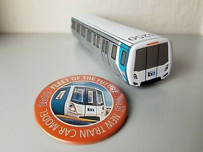 BART SF Bay Area Rapid Transit Plush Foam Train Toy & Pin Fleet of the Future