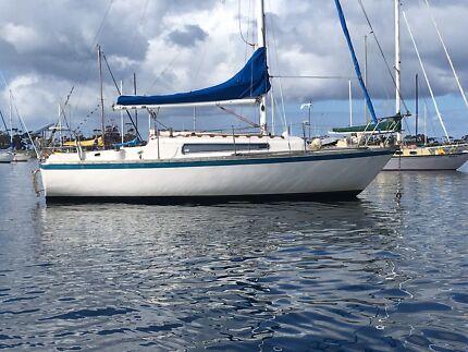 Triton 24 yacht  club mooring available geelong swap fishing boat