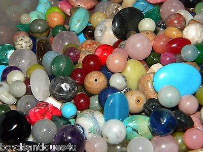 - NEW 6/oz Semi-Precious, Gemstone, Agate 6-15mm  MIXED LOOSE BEADS LOT (USA)