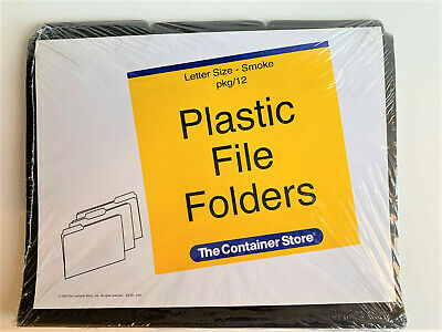 Container Store Plastic Letter Size File Folders Pkg12