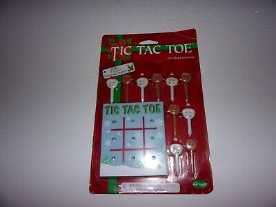 Christmas Tic Tac Toe Game, Snowman And Gingerbread Man / New (Christmas Tic Tac Toe Game)