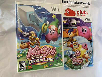 Kirby's Return to Dream Land (Nintendo Wii, 2011) good condition , tested works