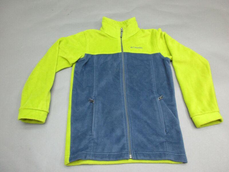 COLUMBIA SIZE M(10-12) BLUE/GREEN FULL ZIP FLEECE JACKET 594