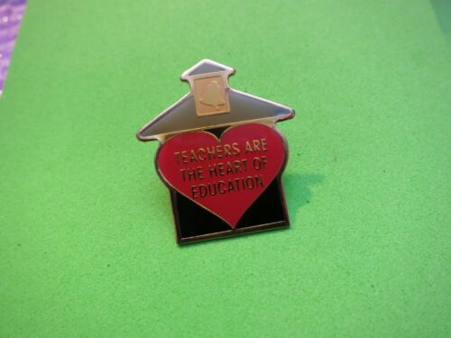 Teachers Are The Heart Of Education Lapel School Red Heart Pin by Anderson